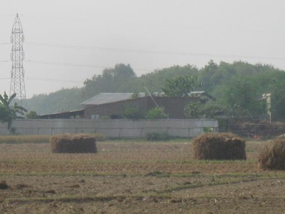 জৌগ্রামে চাষের জমিতে খৈনি কারখানা। ২০ নভেম্বর ২০১৩। ছবি জিতেন নন্দীর তোলা